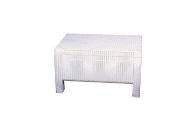 Аренда (прокат) журнального ротангового столика белого по 300 грн/сутки