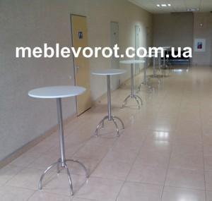 Аренда белого барного стола (Коктельного) в Киеве