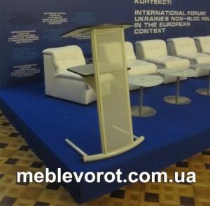 Аренда белой трибуны_прокат конференционной мебели в Киев