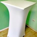 Прокат чехол под барный квадратный стол белый по Киеву