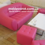 аренда мягких розовых пуфиков_прокат банкеток