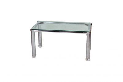 Аренда (прокат) стеклянного журнального столика 70*45 см на хромированных ножках  по 80 грн/сутки