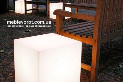 Аренда (прокат) светящихся Слайд LED-кубов по 250 грн/сутки
