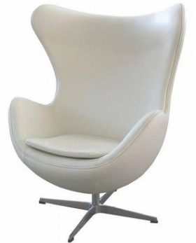 """Аренда (прокат) дизайнерского кресла """"Егг""""  белого цвета по 899 грн/сутки"""