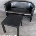 Аренда дивана черного Лиза Киев