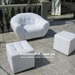 Аренда кресла Глобус Магнат белого в Киеве