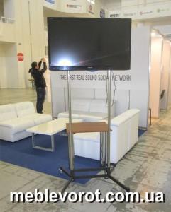 Аренда ( прокат ) плазмы с подставкой_прокат телевизора на подставке в Киеве