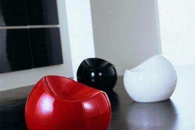 Аренда (прокат) дизайнерского пуфа-шара Рензо (красный,черный, белый) по 250 грн/сутки