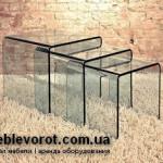 Аренда стеклянных столов прозрачных Вулкано в Киеве