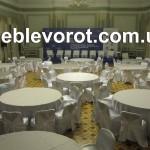 Аренда круглого банкетного стола диаметром 180 см_прокат банкетной мебели в Киеве