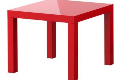 Аренда (прокат) красного квадратного журнального столика «ИКЕА»  по 150 грн/сутки