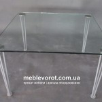 Прокат стол стеклянный d 80*80 Кофейный Киев
