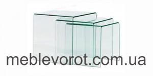 Аренда комплекта стеклянных столиков_прокат журнальных столов