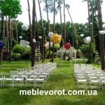 Прокат свадебного белого стула