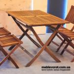 Прокат стола коричневого складного Меранти Киев