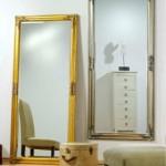 Прокат зеркала напольного золотого в Киеве