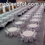 Аренда комплектов банкетной мебели: стол, стулья, текстиль
