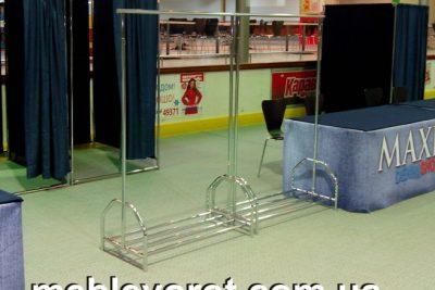 Аренда (прокат) мобильной гардеробной хромированной стойки под плечики (вешала) по 130 грн/сутки