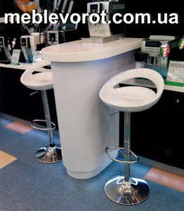 Аренда белого барного стула. Прокат барной мебели_Киев