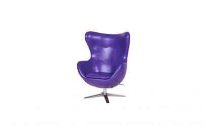 """Аренда (прокат) дизайнерского кресла """"Егг"""" (яйцо) фиолетового цвета по 899 грн/сутки"""