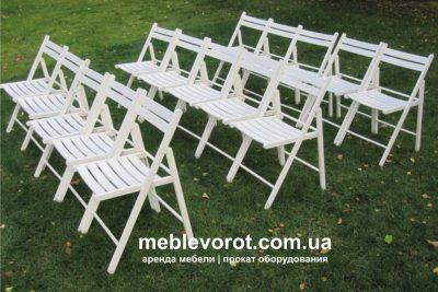 Аренда (прокат) свадебных белых деревянных стульев по 29 грн/сутки