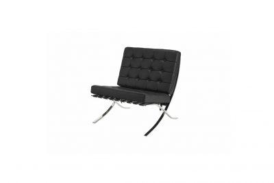 """Аренда (прокат) дизайнерского 1-местного кресла """"Барселона"""" черного цвета по 700 грн/сутки"""