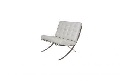 """Аренда (прокат) дизайнерского  1-местного кресла """"Барселона"""" белого цвета по 700 грн/сутки"""