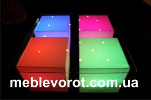 Аренда стола с подсветкой_прокат светящейся мебели_киев