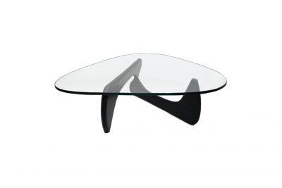 Аренда (прокат) дизайнерского кофейного черного стеклянного столика Ногучи  по 400 грн/сутки