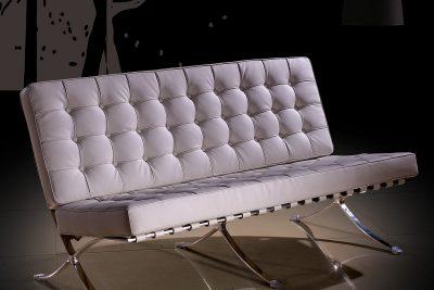 "Аренда (прокат) дизайнерского 2-х местного дивана ""Барселона"" белого цвета по 1500 грн/сутки"