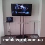 Аренда барного стеклянного стола_прокат барной мебели