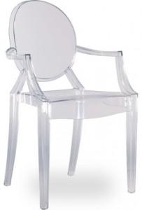 Аренда дизайнерских стульев Louis Ghost_прокат эксклюзивной мебели_киев