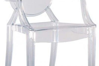 Аренда (прокат) прозрачных пластиковых стульев Призрак Луи 230 грн/сутки
