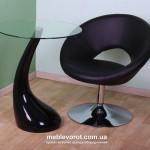 Аренда кресла мягкого Росвел черного цвета в Киеве