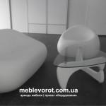 Прокат кресла Гумбал пластикового белого Киев