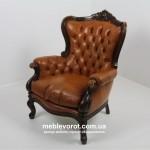 Аренда старинного кресла «Людовик XIV» коричневого в Киеве