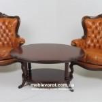Кресло антикварное «Людовик XIV» коричневое