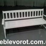 прокат белых лавочек_аренда мебели для сада или свадьбы