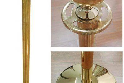 Аренда ( прокат ) золотых оградительных столбиков с красными бархатными канатиками по 120 грн/сутки