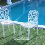 Прокат стульев белых дизайнерских Флора