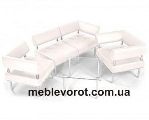 Аренда белых секционных диванов_прокат белого дивана_киев