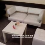 Прокат белого секционного офисного дивана Киев