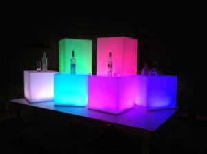 Аренда светящихся кубов_прокат LED мебели