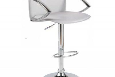 """Аренда (прокат) барного дизайнерского стула-кресла """"Люкс"""" белого цвета со спинкой по 200 грн/сутки"""