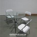 Прокат стульев белых тканевых раскладных в Киеве