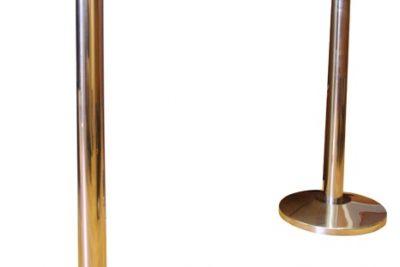 Аренда (прокат) столбиков хромированных оградительных с тенсатором лента красная  2 м по 100 грн/сутки/шт.