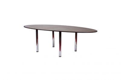 Аренда (прокат) овального переговорного (конференционного) стола темно коричневого на 6-8 персон по 800 грн/сутки