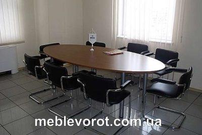 Аренда (прокат) овального переговорного (конференционного) стола коричневого на 6-8 персон по 800 грн/сутки