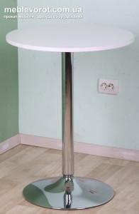 Аренда столов на не регулирующейся ножке 60 см диаметром в Киеве