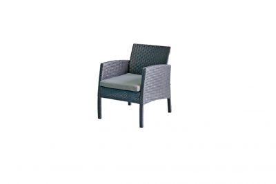 Аренда (прокат) одноместного черного кресла из ротанга с мягкой сидушкой по 250 грн/сутки